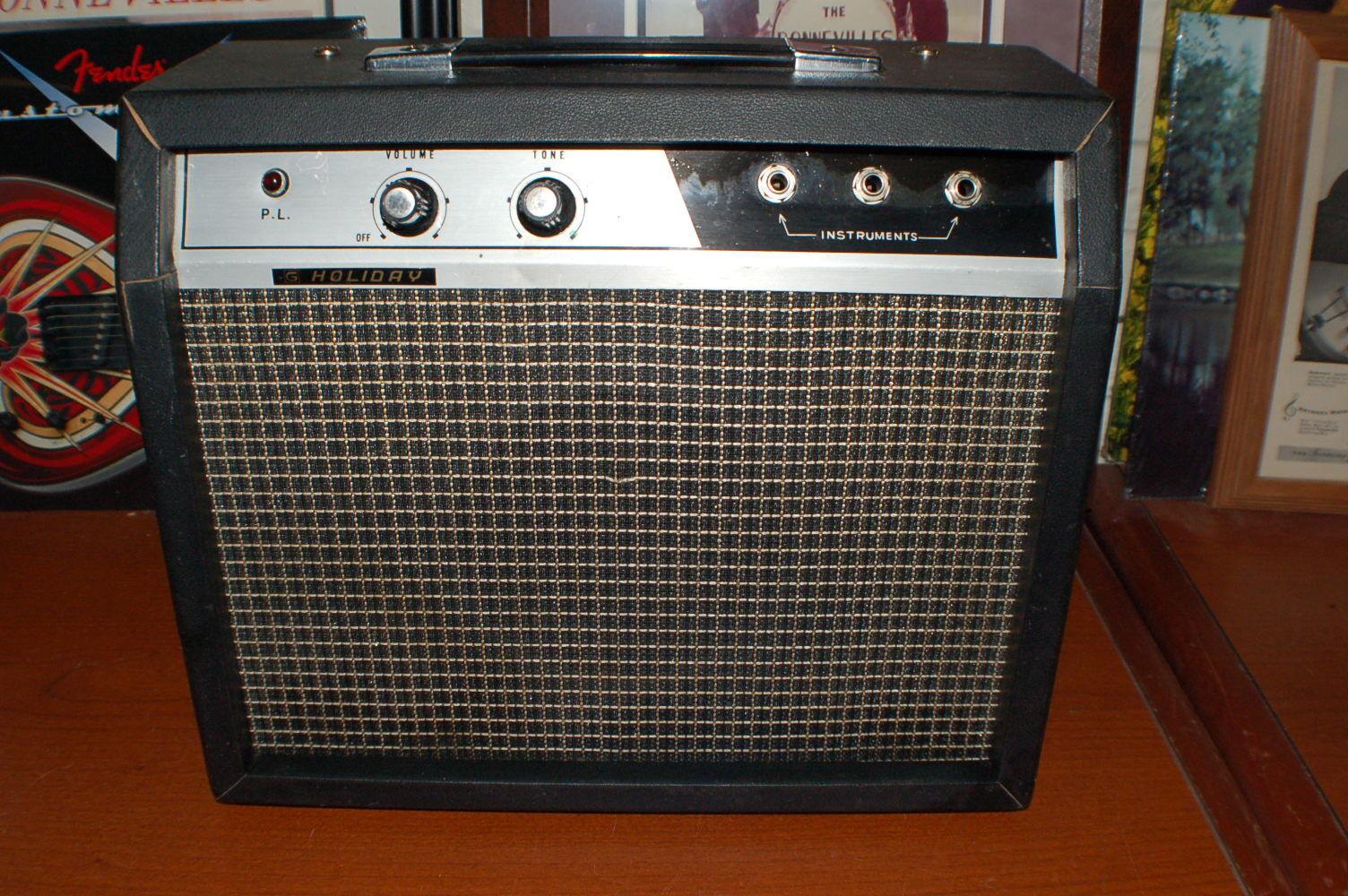Vintage Vintage Vintage Raro 1965 vacaciones por Kawai Guitarra Amplificador funciona de estado sólido y limpio  ea5638