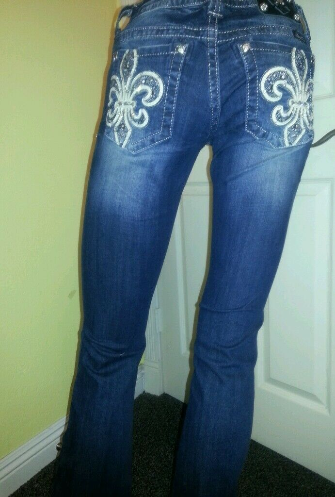 MISS ME JEANS SIZE 26,27,28 BOOT NWT JP6183BV