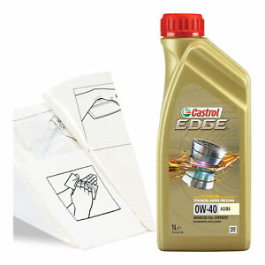 Engine-Oil-Top-Up-1-LITRE-Castrol-EDGE-0W-40-0W40-FST-A3-B4-1L-Gloves-Funnel