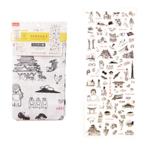Japanese Fabric Tenugui Traditional Hand Towel Cotton Cloth 35x90cm JAPAN F//S