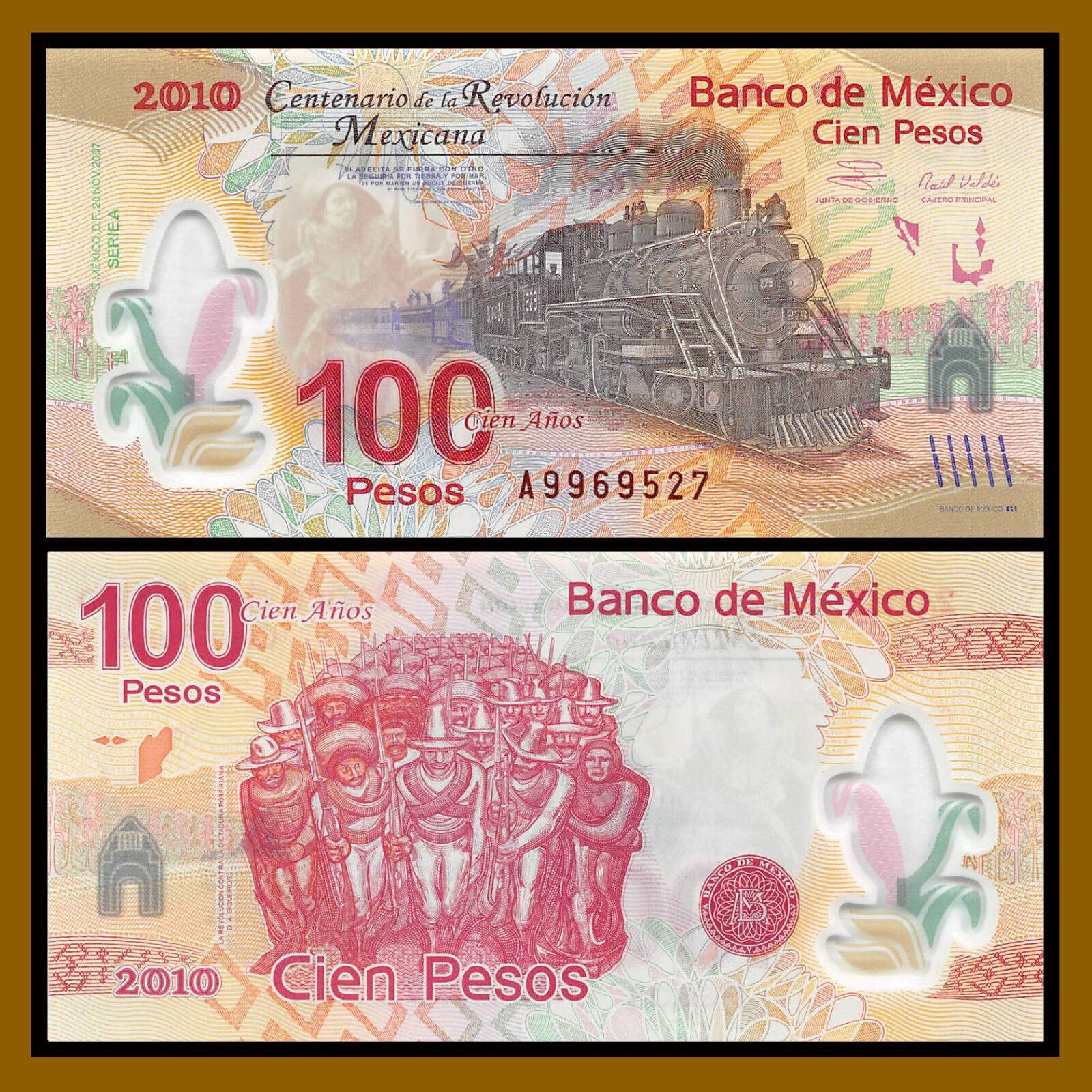 POLYMER A PREFIX SERIES UNC MEXICO 100 PESOS 2007 P 128 COMM 2010