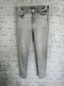 Abercrombie Fitch Jean Pantalones Talla 28 6 Gris Harper Baja Altura Super Skinny Casual Ebay