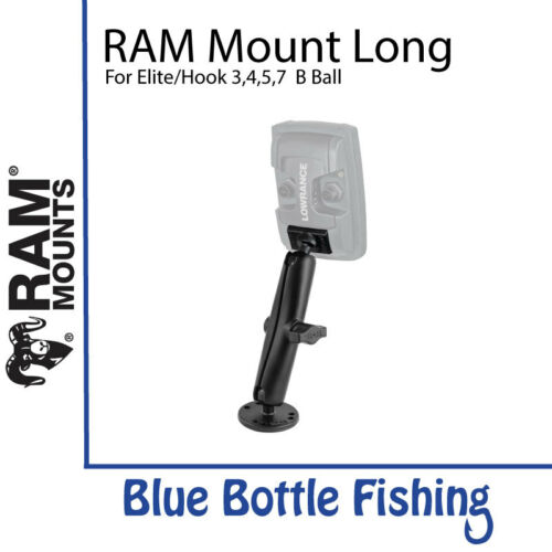 RAM Mount Long for Lowrance Elite and Hook 3//4//5 B Ball