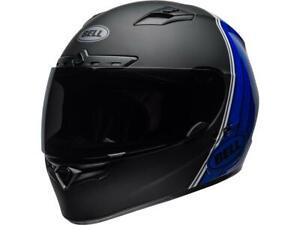 Casque-moto-de-route-integral-BELL-Qualifier-DLX-Mips-Illusion-Bleu-Noir-Blanc