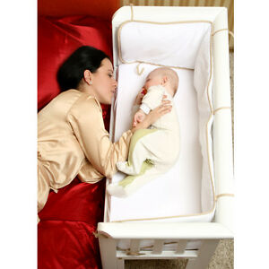 Anti-Allergy Mattress and Fitted Sheet Included MiniUno Co-Sleeping Crib Sleeptite Bedside Crib