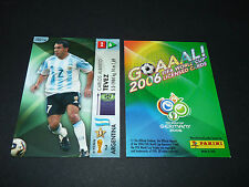 CARLOS TEVEZ ARGENTINA PANINI CARD FOOTBALL GERMANY 2006 WM FIFA WORLD CUP