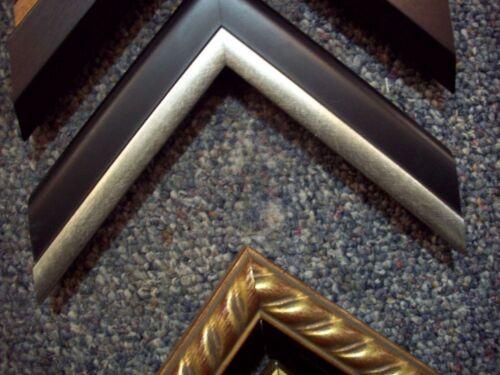 BLACK sliver wood Picture frame Moulding PHOTO frame