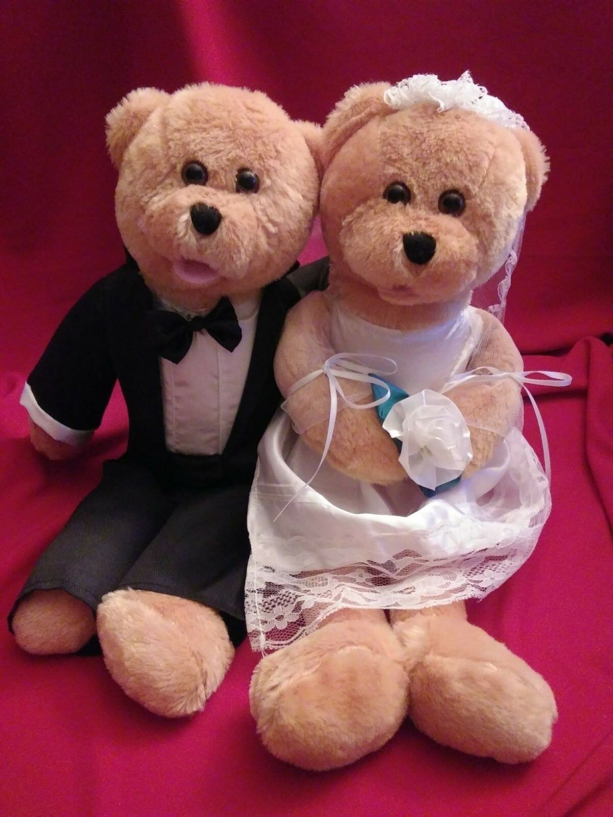 17  Singing Chantilly Just Married Bears FREE SHIPPING Stuffed Plush Toys.