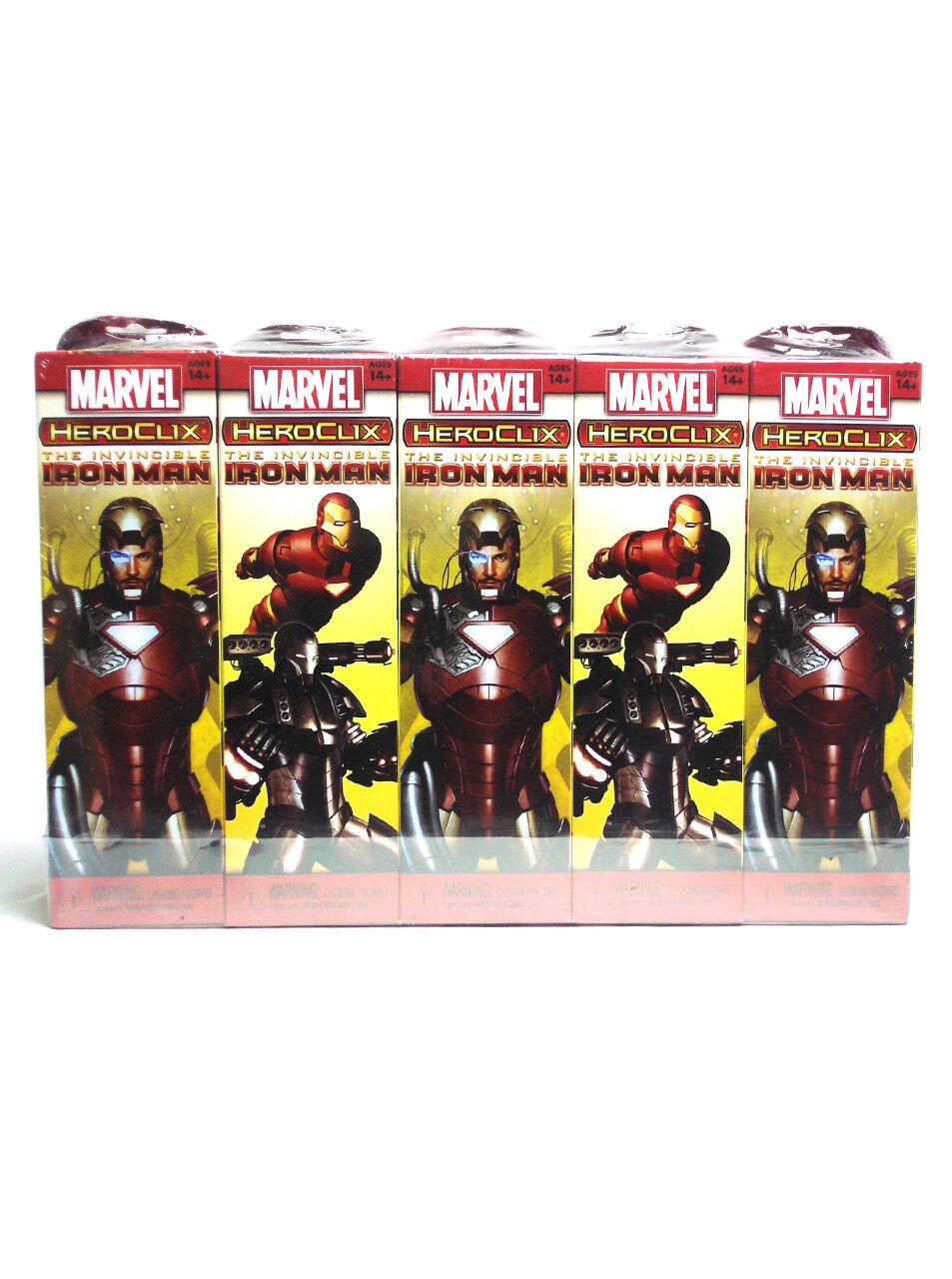 Marvel Heroclix Invencible Iron Man ladrillo 10 intensificadores Totalmente Nuevo Sellado