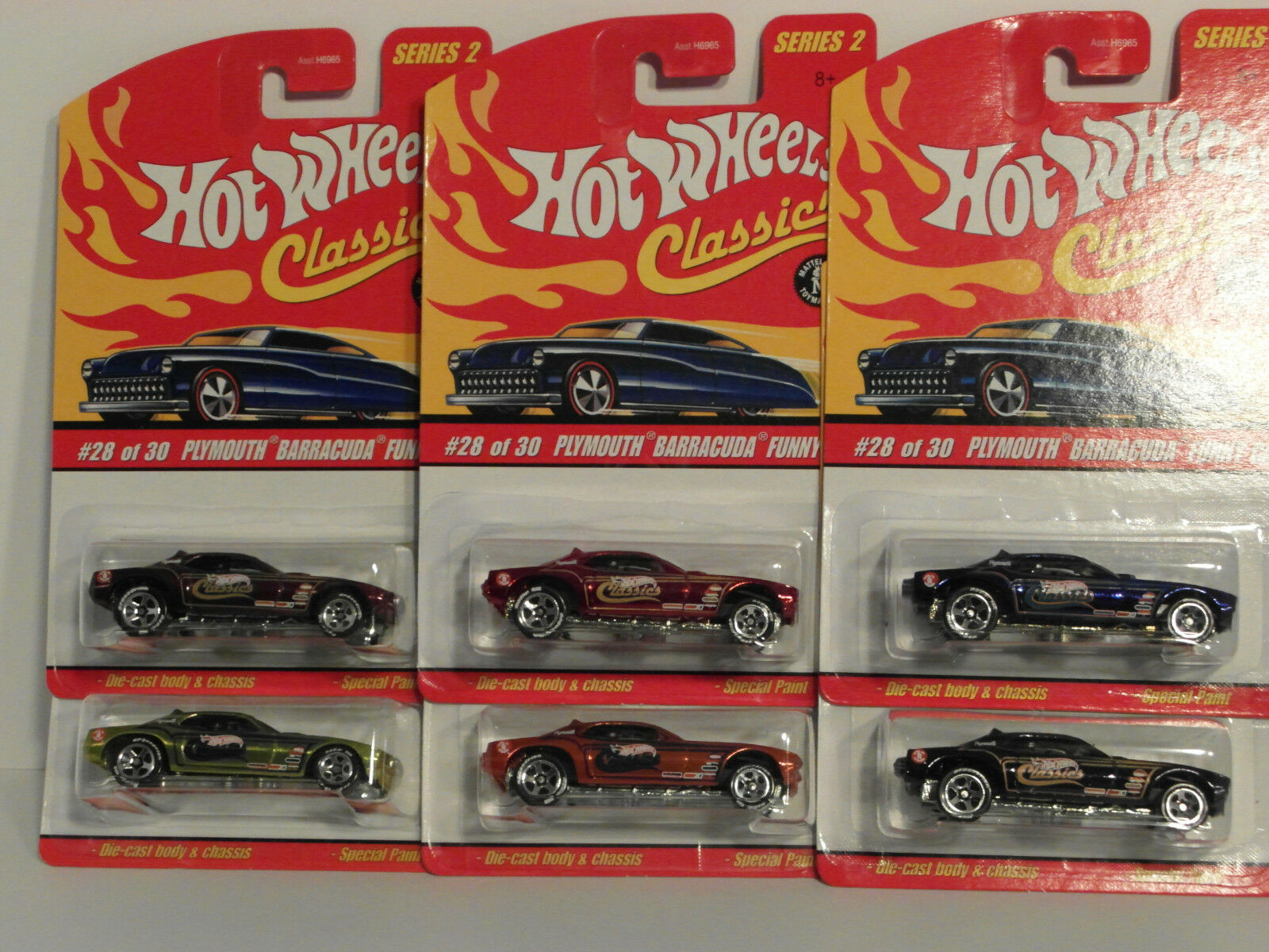 2006 HW Hotwheels CLASSICS Series 2 PLYMOUTH BARRACUDA FUNNY CAR  6 Vari VHTF