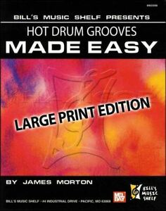 Hot Drum Grooves Made Easy Large Print Edition Music Book Same Day Dispatch-afficher Le Titre D'origine Apparence EsthéTique