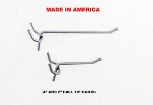 "50 each 1/"" /& 2/"" All Metal Peg Hooks 1//8 to 1//4/"" Pegboard Garage kit Slatwall"