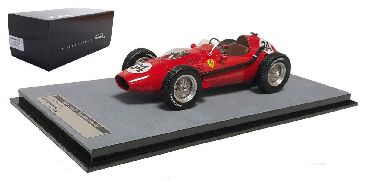 TECNOMODEL Ferrari Dino 246 F1  34 2nd Monaco GP 1958-Luigi Musso échelle 1 18