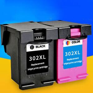 Fur-HP-302-XL-OfficeJet-3830-3831-3832-3833-Combo-Tintenpatronen-Schwarz-amp-Fa