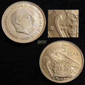 *gutse* Franco>1, 5 Pesetas 1957*64, Plus Flojo, Brillo Original, Sin Circular.
