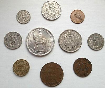 ELIZABETH II COINS Year Sets 1953 to 1967 : FREE UK POST