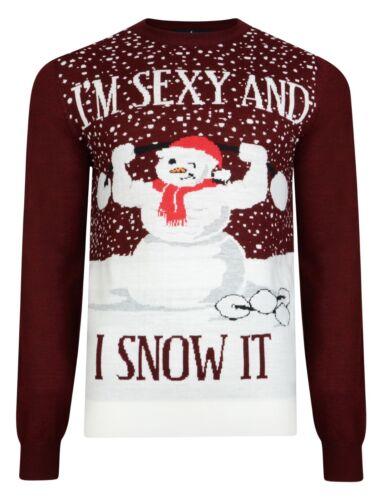 Navidad Jumpers Nuevo Novedad Divertido Travieso Navidad Nieve Pingüino de árbol de Santa knits