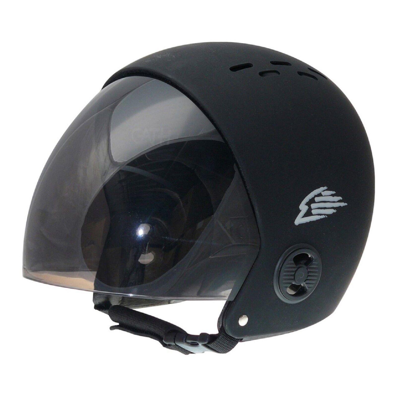 GATH Wassersport Helm Vario Visor M schwarz  schwarz  Windsurf  Kite  Wakeboard