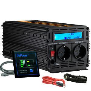 SPANNUNGSWANDLER-3000W-6000-WATT-12V-230V-Softstart-WECHSELRICHTER
