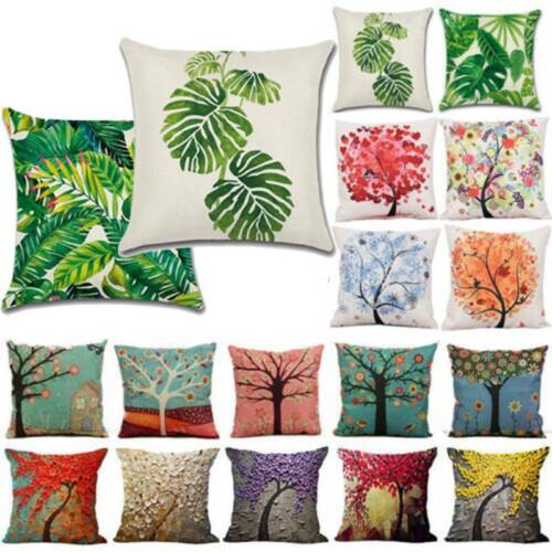 "18/""Vintage 3D Trees Pillows Case Sofa Car Waist Throw Cushion Cover Home Decor"