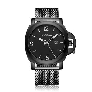 a18cde82b02 LA BANUS ALL BLACK CROWN GUARD WITH STAINLESS STEEL STRAP MEN S ...