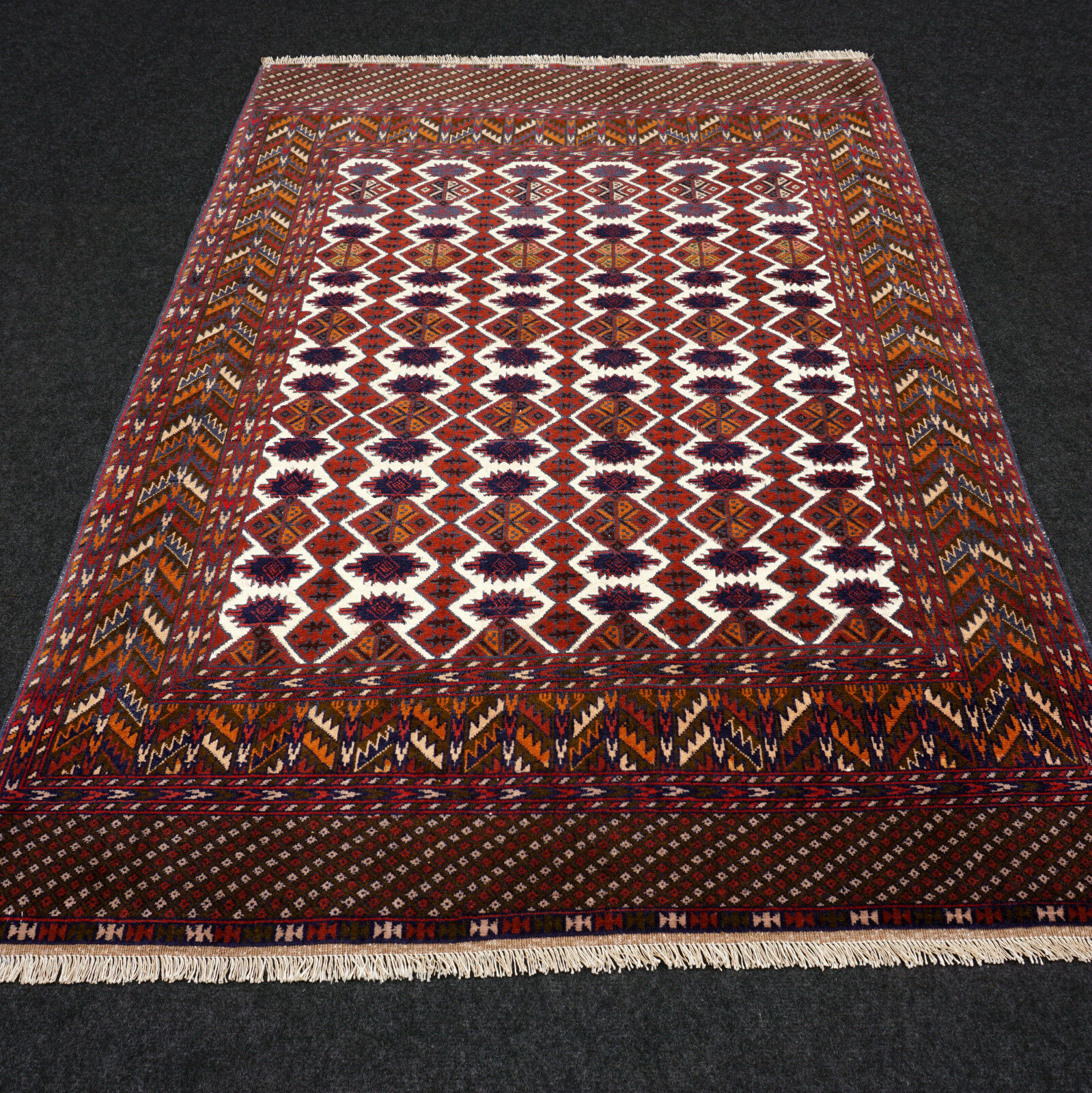 Orient alfombra Afghan 168 x 117 cm Tekke seidenteppich Turkmen Jomud Carpet Rug