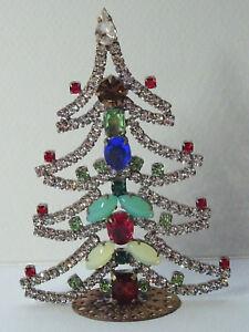 Christbaum-Aufsteller-Weihnachtsbaum-Christmas-tree-Strass-Gablonz-Boehmen-Glas