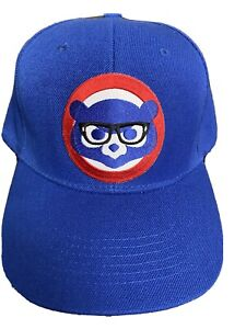 ⚾️CHICAGO CUBS HARRY CAREY 🤓GLASSES EMBROIDERED LOGO CAP HAT CURVED BILL NEW