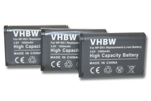 DSC-HX60V 3x Batería 1000mAh para Sony Cybershot DSC-HX60