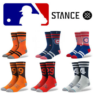 Stance-Socks-Homme-Ras-Du-Cou-Mlb-Baseball-Athletic-Chaussettes-Taille-L-9-12-Achat-1-Obtenez-1