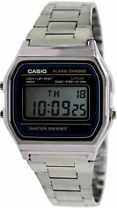Casio-Vintage-A158WA-1DF-D011-Grey-Dial-Digital-Men-039-s-Watch-Free-Shipping
