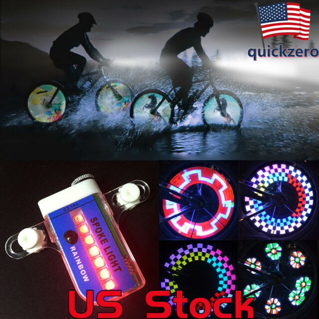 10x 22LED Motorcycle Cycling Bicycle Bike Wheel Signal Tire Spoke Light 30Change