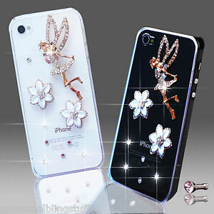 3D-DELUX-COOL-BLING-ANGE-TINKERBELL-STRASS-COQUE-POUR-DIVERS-TELEPHONES-MOBILES
