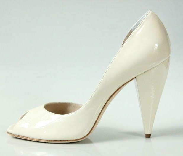 New  595 RODO off-Weiß off-Weiß off-Weiß leather peep-toe D'Orsay heels schuhe 40 10 9 gorgeous 2f5abb