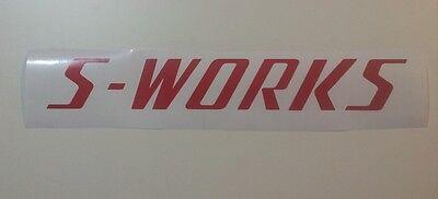 decal Specialized S-WORKS vinyl sticker 350mm x 50mm Metallic Silver etc
