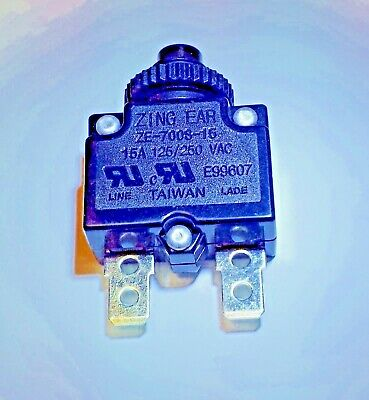 ZE700-3A Zing Ear thermal circuit breaker replaces Carling Joemex CBK Supply Kuoyeh P/&B