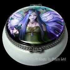 *MYSTIC AURA* Fairy Art Ceramic Mini Trinket Box By Anne Stokes (5.5cm)
