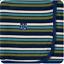 miniatuur 1 - NEW Kickee Pants Swaddling Blanket in Botany Grasshopper Stripe