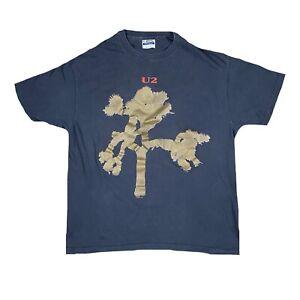 U2-Joshua-Tree-Vintage-T-Shirt-Hanes-XL-Single-Stitch-Faded-Distressed-1987