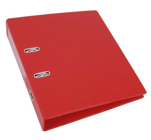 PVC-Ringbuch rot für A4 50mm breit Hebelmechanik Ringbücher 5x Ordner