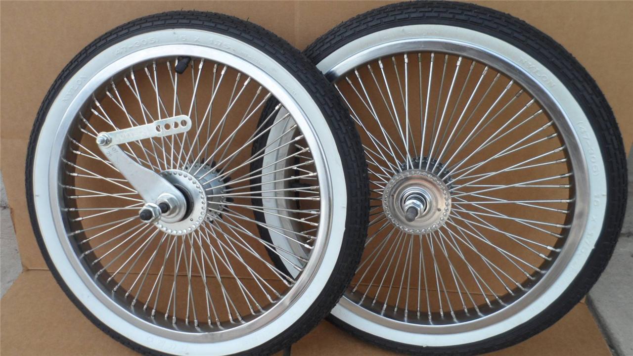 16  Lowrider Bicycle Dayton Wheels 72spoke BMX Schwinn w  Tires & Tubes 16x1.75
