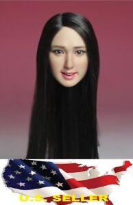 KIMI 1//6 female head  KT011 B long hair for hot toys phicen KUMIK ❶US SELLER❶
