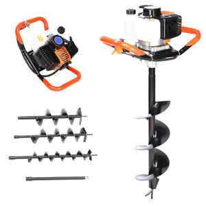 Details about DKIEI 52cc 3HP Fence Post Hole Digger Ground Earth Auger  Petrol w/Drill Bits+Ext