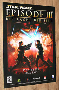 Star Wars Episode Iii Revenge Of The Sith German Promo Poster 59x42cm Ps2 Xbox Ebay