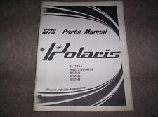 Vintage Snowmobile Polaris 1975 Electra 250 340 440 Parts Manual Not a Copy