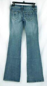 NWT-Hydraulic-Light-Wash-Super-Low-Metro-Boot-Teen-Women-Jeans-Sz-1-2-W22-x-L32