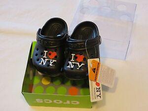 18cd75b58 Crocs I Love NY New York littles baby shoes clog mule black C2 3 ...