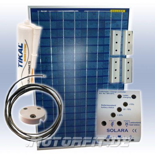 80w (12v) solar-professionnel-spar-set/système solaire complet avec supports