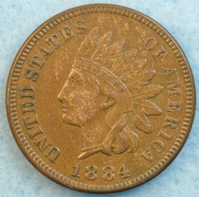1884 Indian Head Cent Penny Very Nice Old Coin LIBERTY Fast S&H 76704