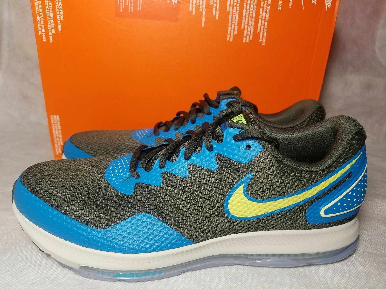 New Nike Zoom All Out Low 2 Men Size 11.5 Running Weightlifting Green Blue Shoe